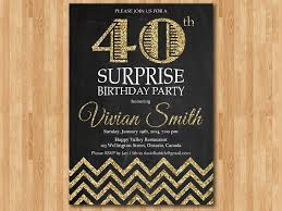 40th birthday invitation for women surprise birthday