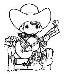 cowboy coloring pages coloring kids