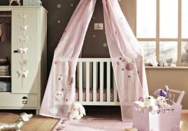 bedroom nursery design wood floor material taupe white baby crib