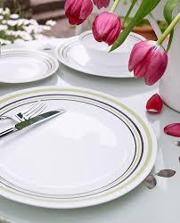 corelle vitrelle glass 12 piece garden sketch bands dinner set