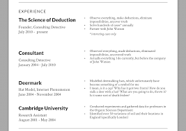 Photos Of Resume Solving The Case Of The Perfect Resume Sherlock Holmes