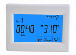 electric underfloor heating buy tr8200 touch screen thermostat