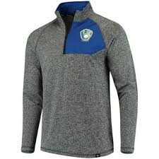 Bench Rain Jacket Milwaukee Brewers Jackets Brewers Track Jackets Coats Pullovers