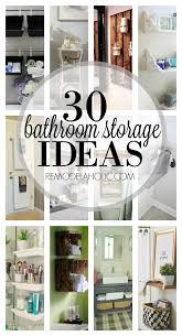 Storage Ideas Bathroom Remodelaholic 30 Bathroom Storage Ideas