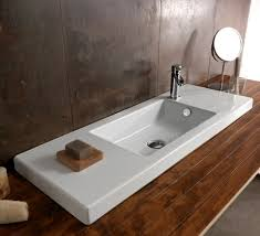 Wide Bathroom Sinks Sink Faucet Design Ceramic Wall Wide Bathroom