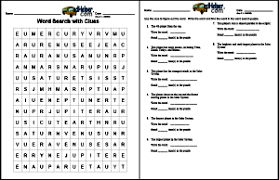 create a word search with clues worksheet