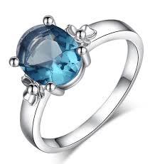 light blue rings images 2018 women light blue gemstone spphire white gold prong set aaa jpg
