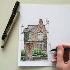 House Architecture Drawing Best 25 House Drawing Ideas On Pinterest House Illustration