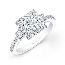 princess cut halo engagement ring white gold square halo princess cut engagement ring