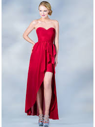 sweetheart high low cocktail dress sung boutique l a