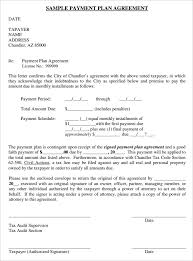 payment plan agreement template 25 free word pdf documents
