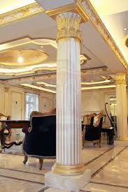 marble columns custom marble columns with gold patina