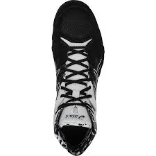 onlin discounted asics mens cael v7 0 wrestling shoes black silver