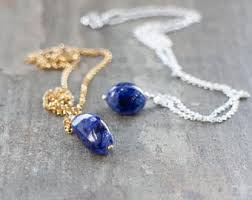 crystal necklace etsy images Sapphire necklace etsy jpg