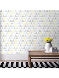 tapisserie chambre bebe papier peint tarek bleu jaune scandinave graham brown