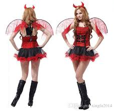 Angel Costumes Halloween Halloween Red Red Angel Costume Women Fantasia Fairy