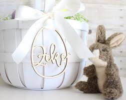 personalized easter egg baskets easter basket etsy