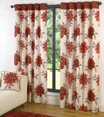 Floral Lined Curtains Curtain Curtain Orangeered Curtainsorange Floral 84orange