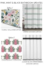 Pink Gingham Shower Curtain Easy Changes To Update A Retro Bathroom Without A Remodel
