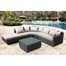 Curved Sectional Patio Furniture - 2 piece modern bonded leather right facing chaise sectional sofa