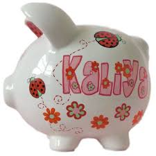 Personalized Silver Piggy Bank 102 Best Piggy Banks Images On Pinterest Piggy Banks