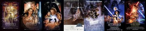 7 posters side side starwars
