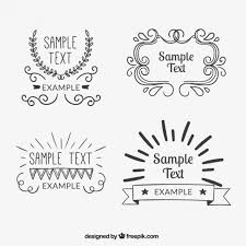 vintage badges collection vector free