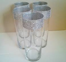 Cylinder Vases Wedding Centerpieces Glass Cylinder Vases Bling Wedding Centerpieces Silver Rhinesto