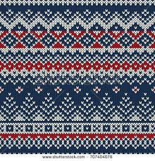 traditional winter seamless knitting pattern stock vector