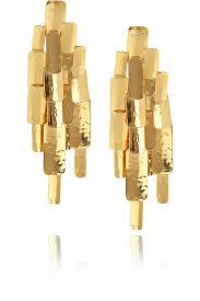 clip on earrings accessorize aurélie bidermann machu picchu 18 karat gold plated clip earrings