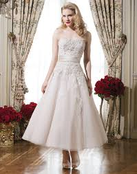 tea length fifities wedding dresses vintage retro shorter