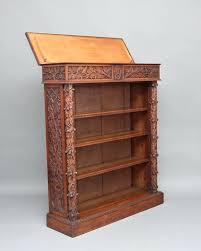 Small Open Bookcase Bookcase Oak Open Shelf Bookcase 19th Century Carved Oak