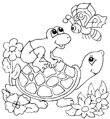 turtle coloring coloring pages kids