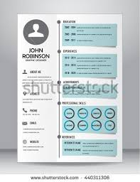 job resume cv template layout template stock vector 440311306