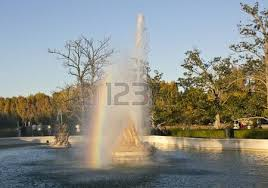 ornamental fountains of the palace of aranjuez spain stock photo