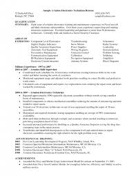 Electronics Technician Resume Samples by Sample Cover Letter Architectural Technologist Create