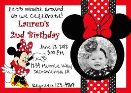 Birthday Invitation Cards Models Minnie Mouse Birthday Invitations Blueklip Com