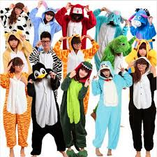 unisex onesie winter animal pajamas costume footed