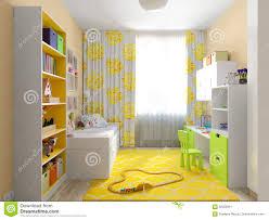 modern urban contemporary children room interior design stock