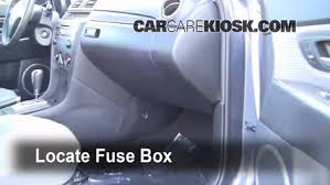 interior fuse box location 2004 2009 mazda 3 2008 mazda 3 s 2 3