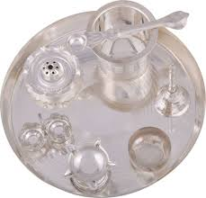 g s museum silver plated pooja thali set price in india buy