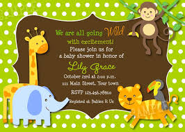 design jungle theme baby shower invitations