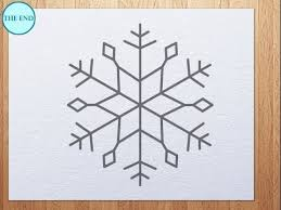 how to draw snowflake youtube