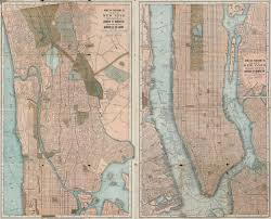 Map Of New York Cities by Map Of The City Of New York David Rumsey Historical Map Collection