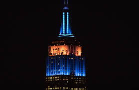 Empire State Building Halloween Light Show The Empire State Building Lit Up With The Colors Of All 30 Mlb