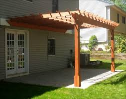 8 X 10 Pergola by Red Cedar Vintage Classic Wall Mount Pergolas Pergolas By