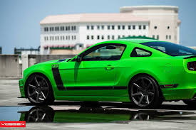 Mustang With Black Rims Ford Mustang Boss 302 On Vossen Cv7 Rims Car Tuning