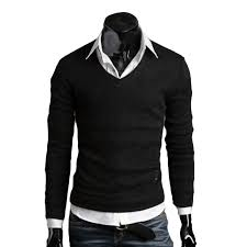 casual slim fit v neck knitted cardigan pullover jumper