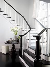 black staircase black and white staircases erica fanning interiors