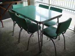 Leather Chairs For Kitchen Table Plastic Faux Leather Solid Yellow Upholstered 1950s Formica